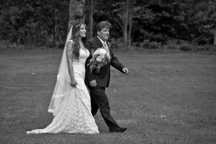 My dad walking me down the Isle!