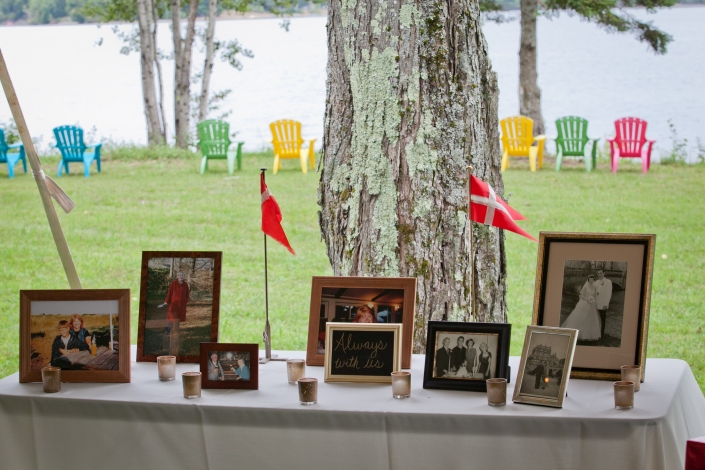 Our memory table. My mother in law passed away a little less than 3 years before our wedding so we wanted to honor her as well as all of our grandparents who were with us in spirit. It was such a nice way to have them with us that day